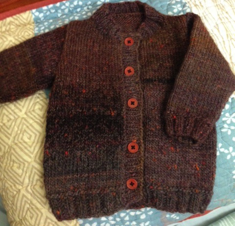 Oxford Baby Jacket Brown