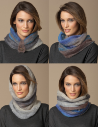 4 in 1 Silk-Mohair Neck Warmer