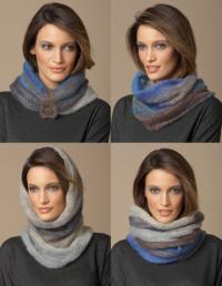 4 in 1 Silk-Mohair Neck Warmer