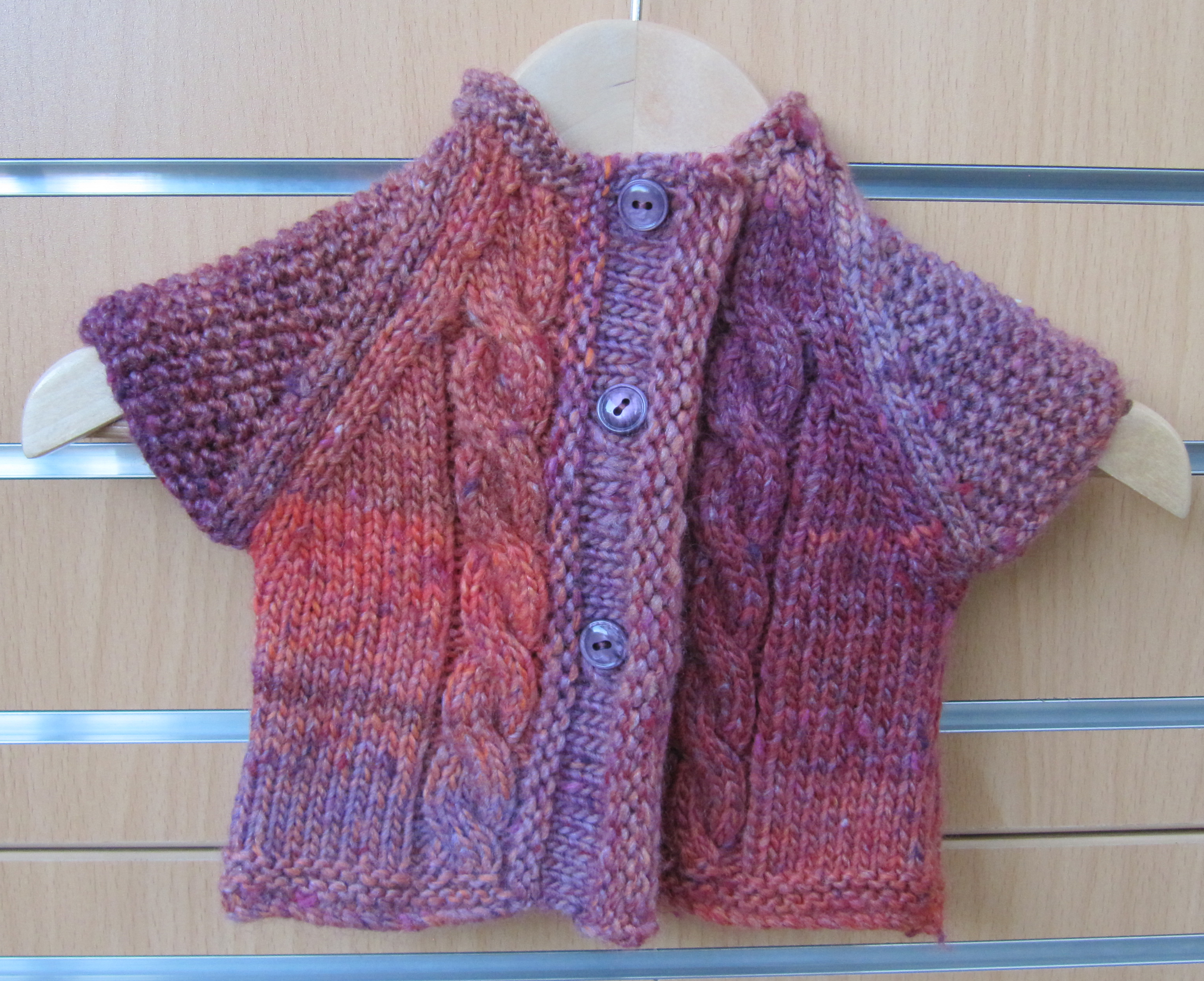 Oxford Baby Cable Jacket Pink Orange
