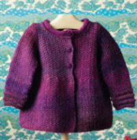 Oxford Seed Stitch Jacket 6640P Blue Pink Mauve
