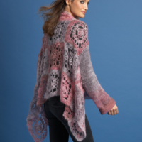 Silk-Mohair Crochet Jacket 7611