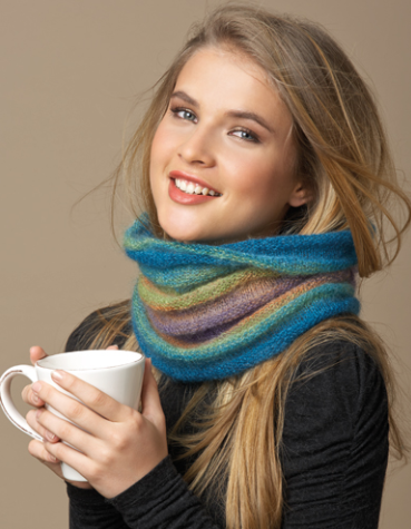 Silk-Mohair Neck Warmer