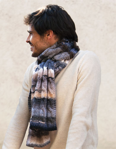 azteca mens cable scarf
