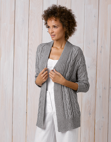 cc7b1745a52 Cotton Cashmere Longline Cardigan with Wide Bands – Lola Lovegrove
