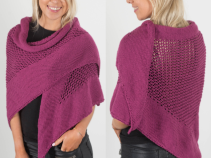 Mon Amour Triangle Shawl – Free Pattern