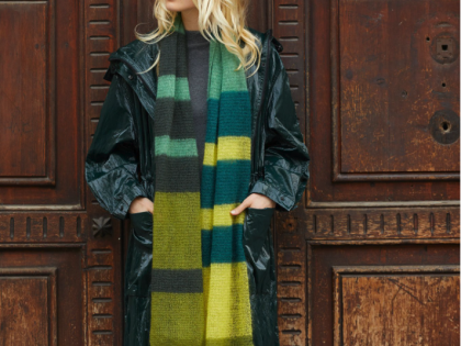 Free Oversized Scarf Pattern in Katia Mohair 50 Shades