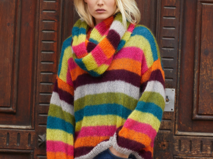 Free Pattern – Striped Pullover and Cowl